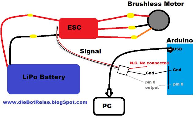 Brushless Motor With Arduino Tutorial, Brushless Motor Esc Wiring Diagram