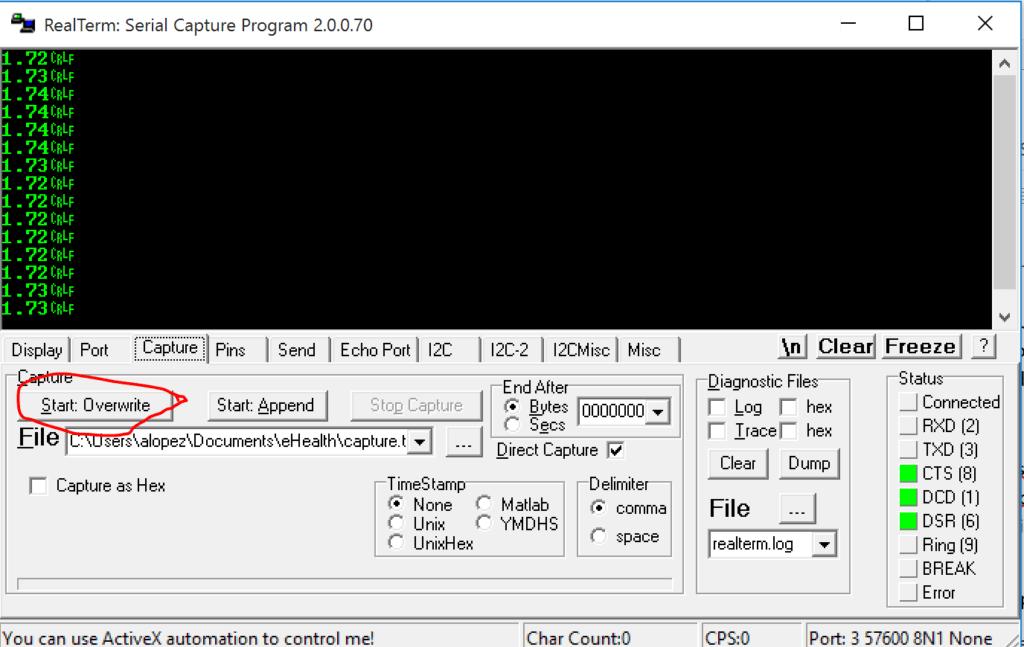 Plot Arduino Serial Data Matlab