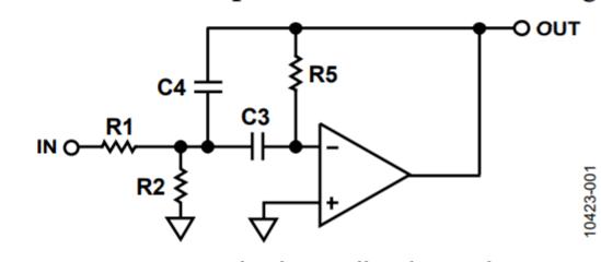active filters  2nd order tschebychev bandpass