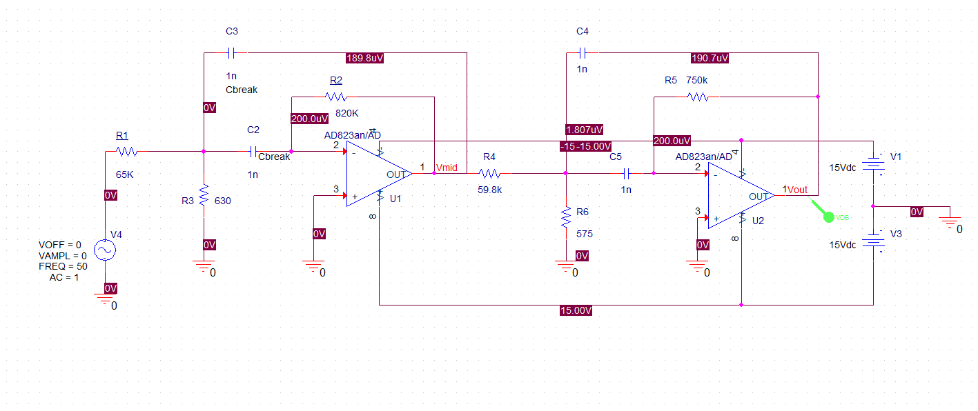 Active Filters: 2nd order Tschebychev Bandpass - Mis Circuitos