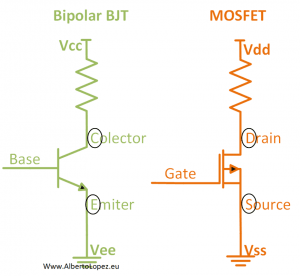 meaning of VDD VSS VCC and VEE in electronics