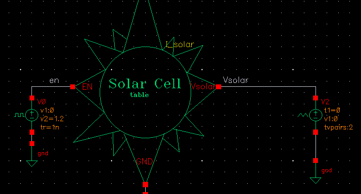 solar cell verilog model
